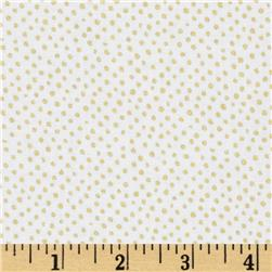 Confetti Sparkle Metallic Mini Dots White