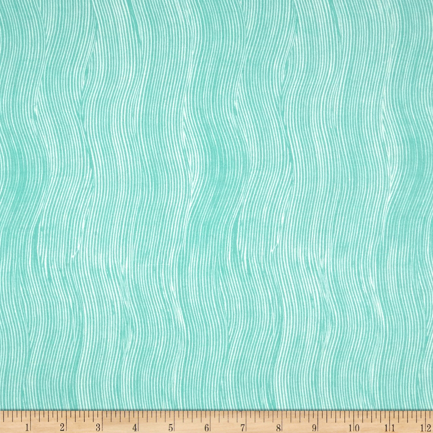 Michael Miller Sandpipers Beach Comber Robin's Egg Fabric by Michael Miller in USA