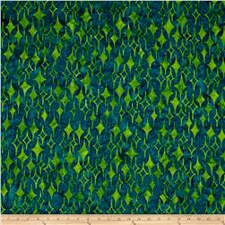 Island Batik Lavish Diamonds Teal/Lime