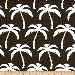 Premier Prints Indoor/Outdoor Palms Bay Brown Fabric