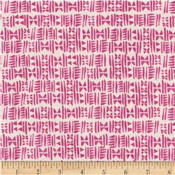 Cotton + Steel Panorama Sunrise Stamps Hot Pink