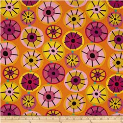 Dazzle Small Circles Orange Fabric