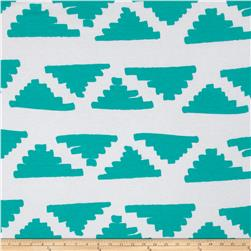 Soft Jersey Knit Hipster Triangle Aqua/White
