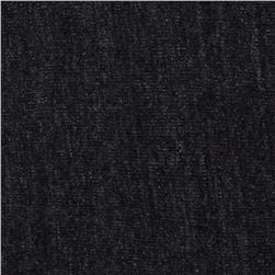 Designer Brushed Rayon Poly Rib Knit Charcoal