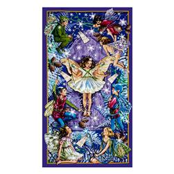 Michael Miller Flower Fairies Enchanted Fairies 24 In. Panel Twlight