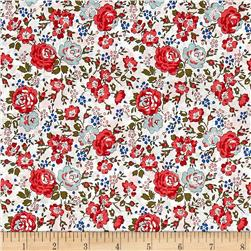 Liberty of London Classic Tana Lawn Felicite White/Red