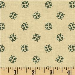 Tavern Collection Decorative Medallions Cream/Green