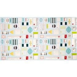 Moda Handmade With Love Label Panel Aqua