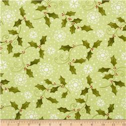 Moda Very Merry Holly Light Green