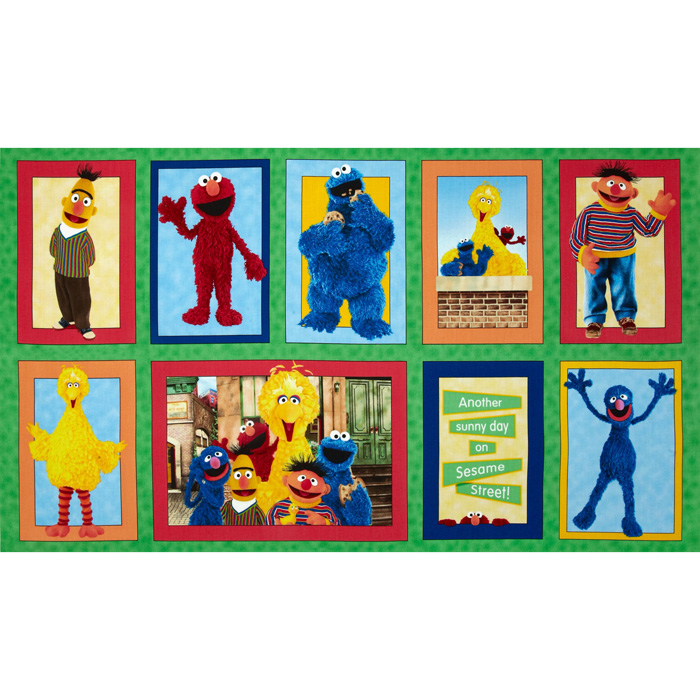 Welcome to Sesame Street Character Patches Panel Multi
