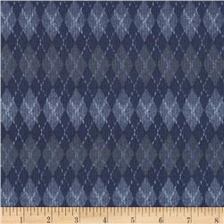 On the Green Fairway Argyle Dark Blue