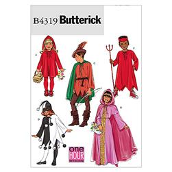 Butterick Children's/Girls' Classic Character Costumes Pattern