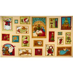 Nancy's Holiday Favorites Flannel Greeting Card Panel Buttercream