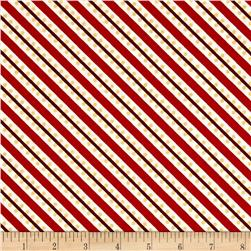 Sparkle Metallic Stripe Red