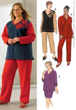 Kwik Sew Pants and Tops Plus Size Pattern