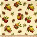 Holiday Magic Tossed Pomegranate & Pears Ivory