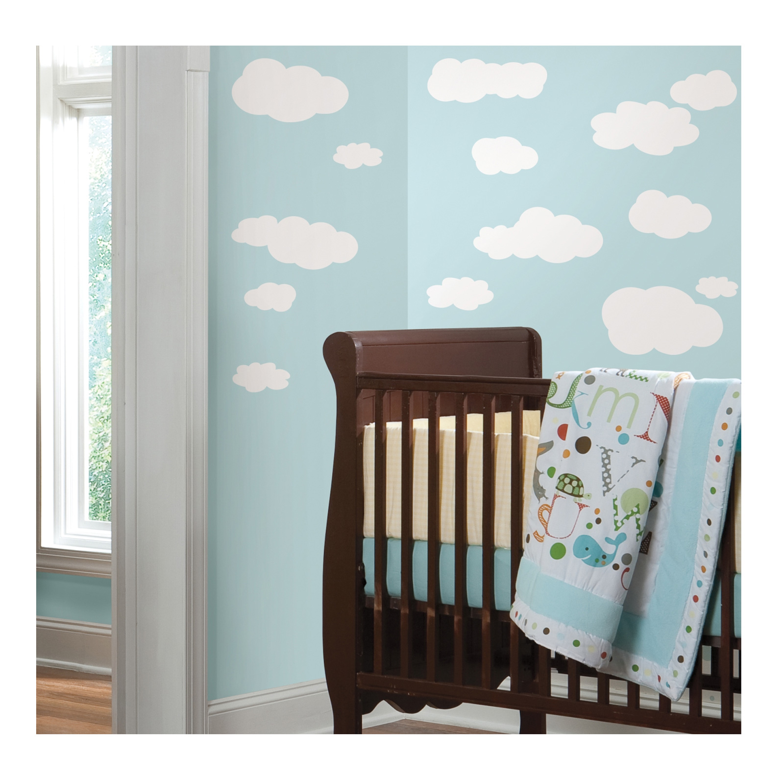 White Clouds Wall Decal by Stardom Specialty in USA