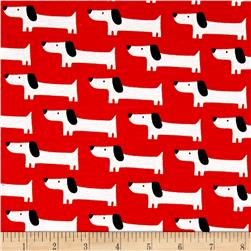 Cloud 9 Organics Sidewalk Interlock Knit Red Rover Dogs Red