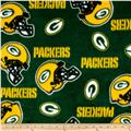 NFL Fleece Green Bay Packers Tossed Helmets Green/Yellow