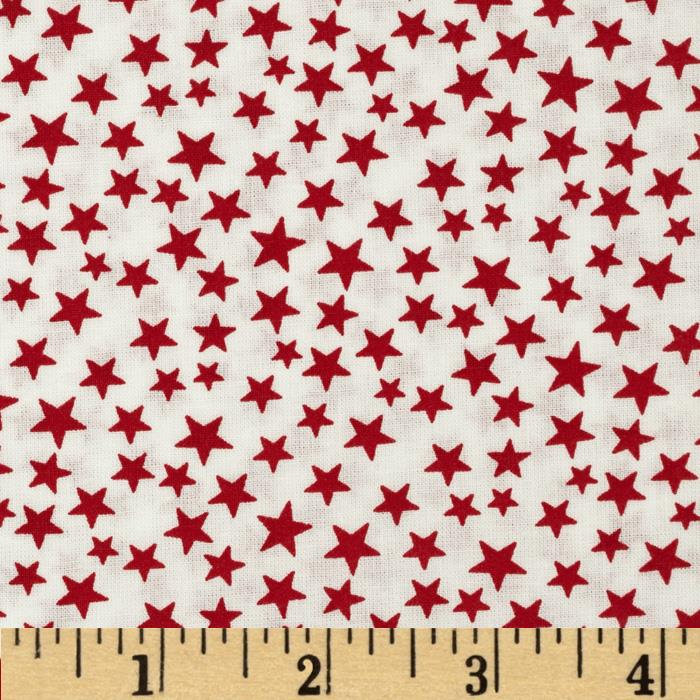 Made in the USA Stars Red/White Fabric