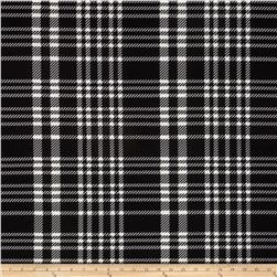 Ponte de Roma Large Plaid Black/Ivory Fabric