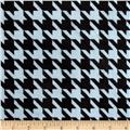 Minky Houndstooth Light Blue/Black