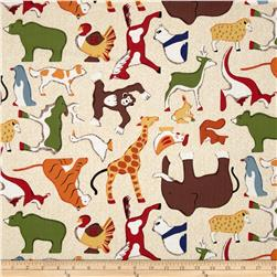 Doodle Zoo Large Tossed Animals Cream