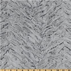 Minky Frosted Zebra Cuddle Grey Fabric