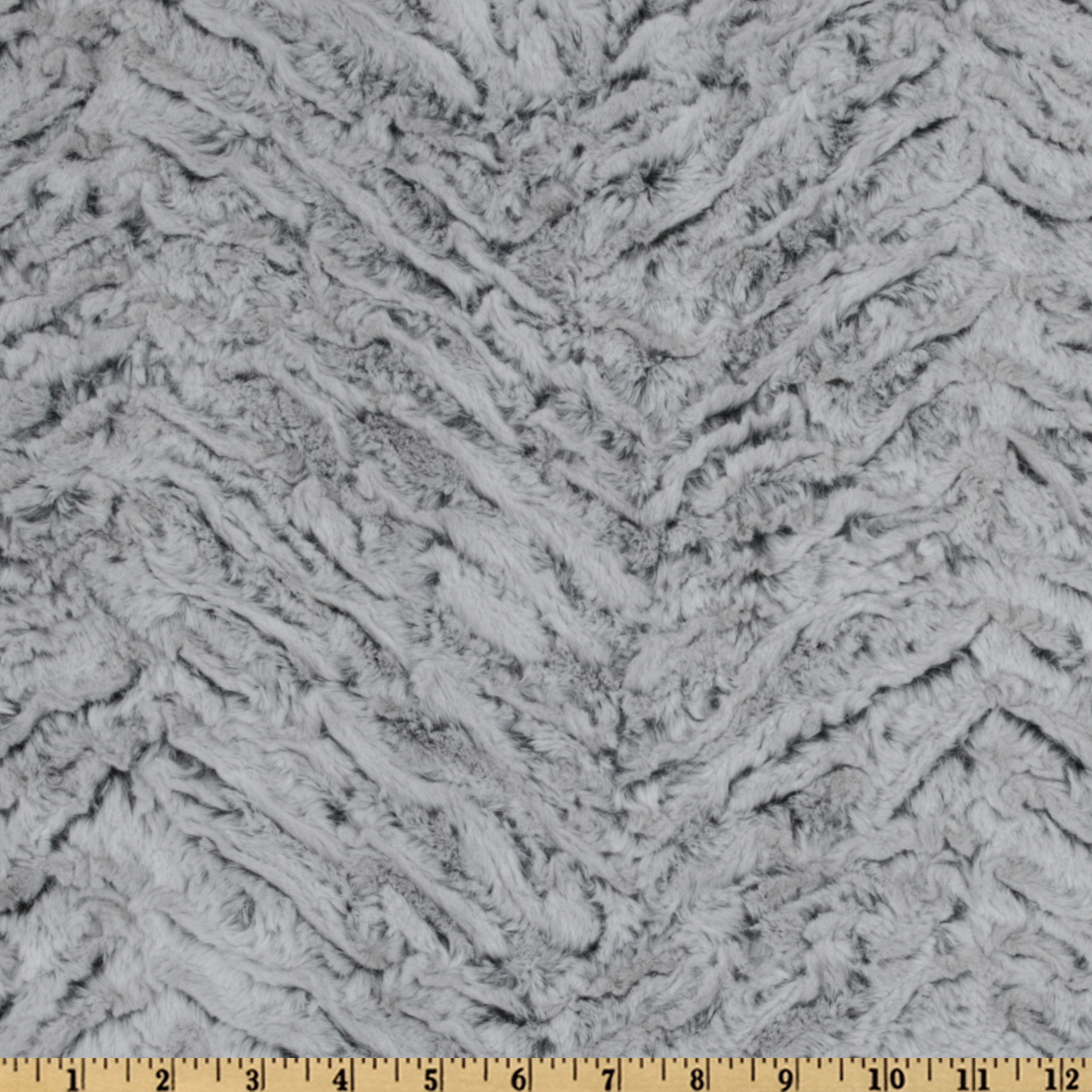 Shannon Minky Luxe Cuddle Frosted Zebra Gray Fabric