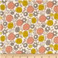 Grey Abbey Organic Floral Whimsy Mustard