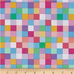 Robert Kaufman Rainbow Remix Large Plaid Sweet