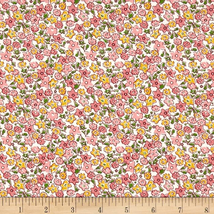 Storybook Vacation Multi Flower Pink
