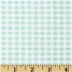 Aunt Polly's Flannel Gingham Light Sage/White