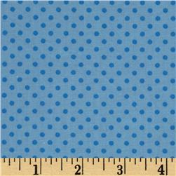 Baby Talk Dots Blue Fabric