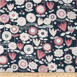 Fabric Freedom Quirky Floral Navy
