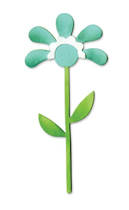 Sizzix Bigz Die - Flower With Leaves & Stem