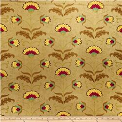 Fabricut Camp Wilder Linen Blend Goldleaf