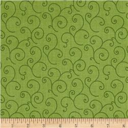Maywood Studio Kimberbell Basics Scroll Green Tonal