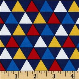 Remix Triangles Navy Fabric