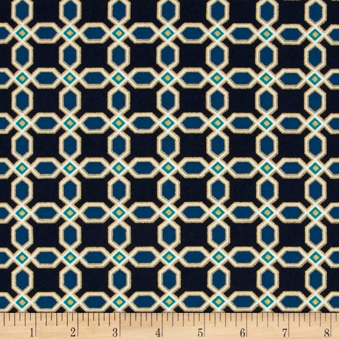 Moda Chandelier Metallic Tiles Navy