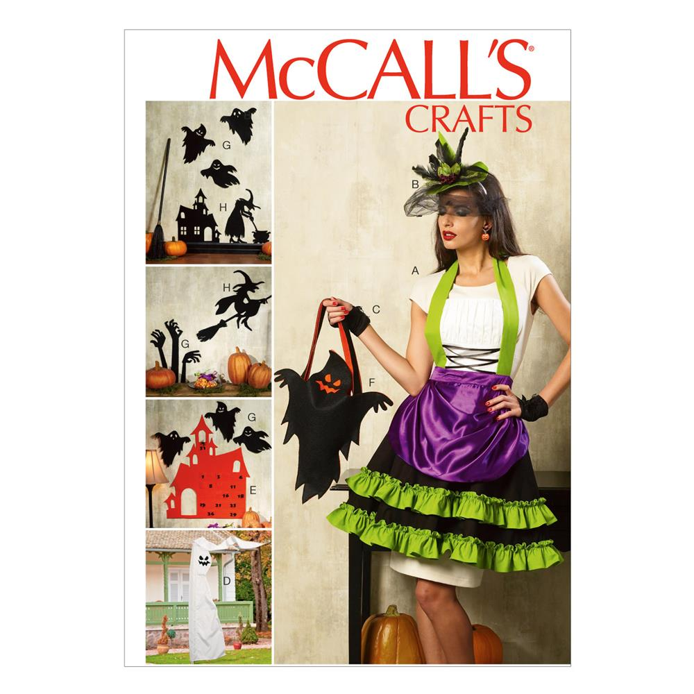 McCall's Halloween Items Pattern M6811 Size OSZ