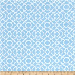 Flannel Bella Trellis Light Blue