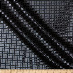 Sequin Check Mesh Black