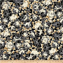 Kaufman Imperial Collection Metallic Flower Antique