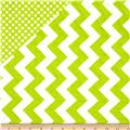 Riley Blake Double Sided Quilted Medium Chevron Lime