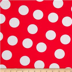 Pimatex Basics Large Dots Red Fabric