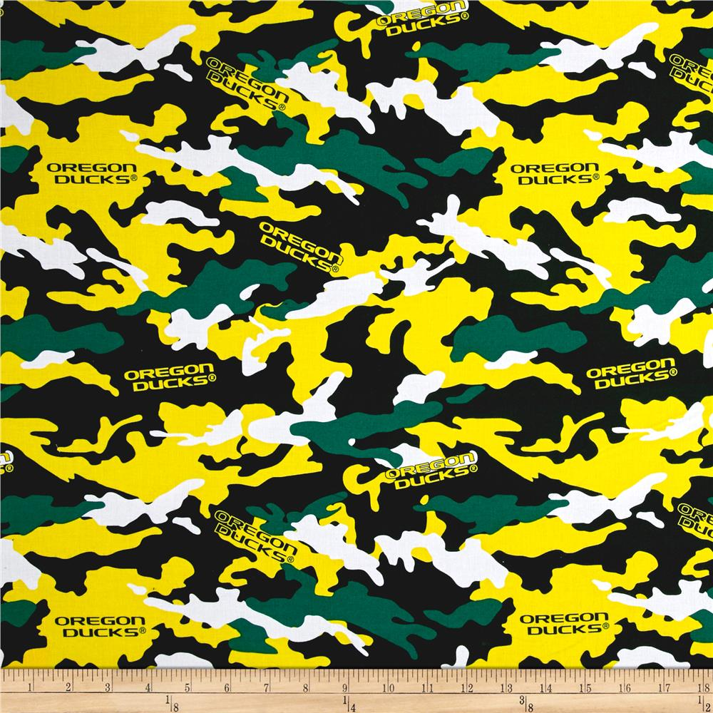 Collegiate Cotton Broadcloth University of Oregon Camouflage