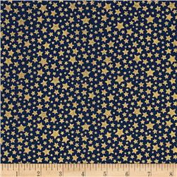 Michael Miller Cat's Cradle Metallic Starbrite Navy