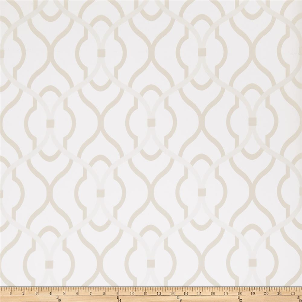 Fabricut 50094w Passa Ogee Wallpaper Fondant 01 (Double Roll)