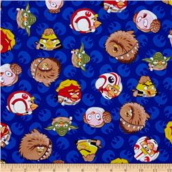 Star Wars Angry Birds Rebel Leaders Blue Fabric